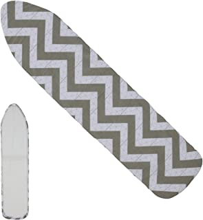 MorNon Ironing Board Cover Pad Resists Scorching Ironing Board Cover with Bonus Adjustable Fasteners(Fits Standard Large B...