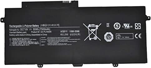 SUNNEAR Replacement Laptop Battery 7.6V 7300mAh 55Wh AA-PLVN4AR For Samsung ATIV Book 9 Plus 940X3G Ultrabook NP940X3G-K01US NP940X3G-K04US K05US K03HK Series Notebook Compatible BA43-00364A 1588-3366