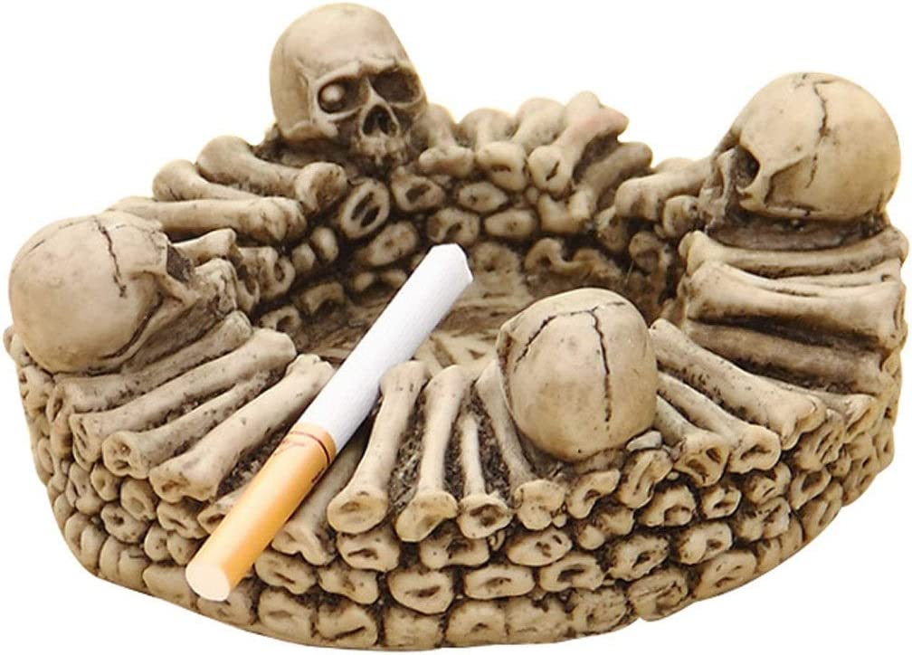 PENGPENGBAIHUO Ranking TOP7 Skull Manufacturer direct delivery Shape Resin As Ashtray Creative Personality