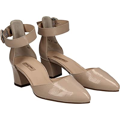 Paul Green Annie Heel (Sand Crinkled Patent) Women