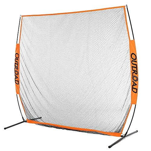 Outroad 7x7 ft Portable Golf Net Hitting Pitching Practice Driving