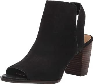 lucky brand leather peep toe booties