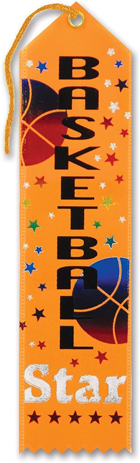 Basketball Star Award Ribbon 2  x 8  Party Accessory