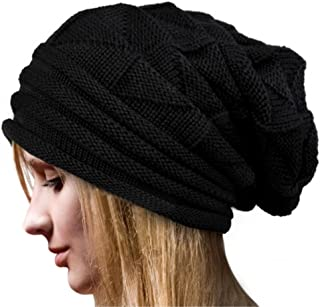 Kafeimali Men's Women's Knit Crochet Snowboard Knit Beanie Caps Autumn winter Long Beanie Hats