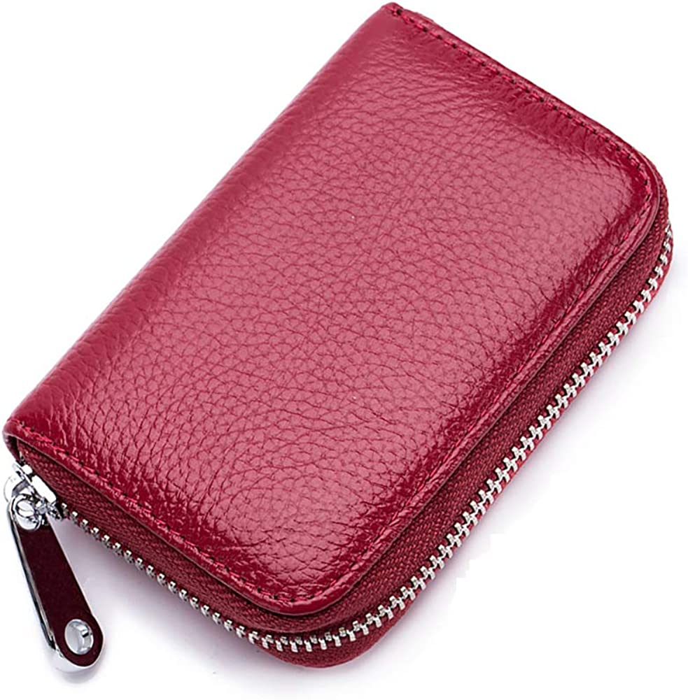 FXICAI RFID Blocking Credit Card Holder - OFFer New Orleans Mall Women for Leat Genuine