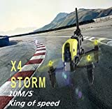 HUBSAN H122D X4 Storm Quadcopter Dron con cámara 1M Micro FPV Racing Drone 3D Flip RC Quadcopter