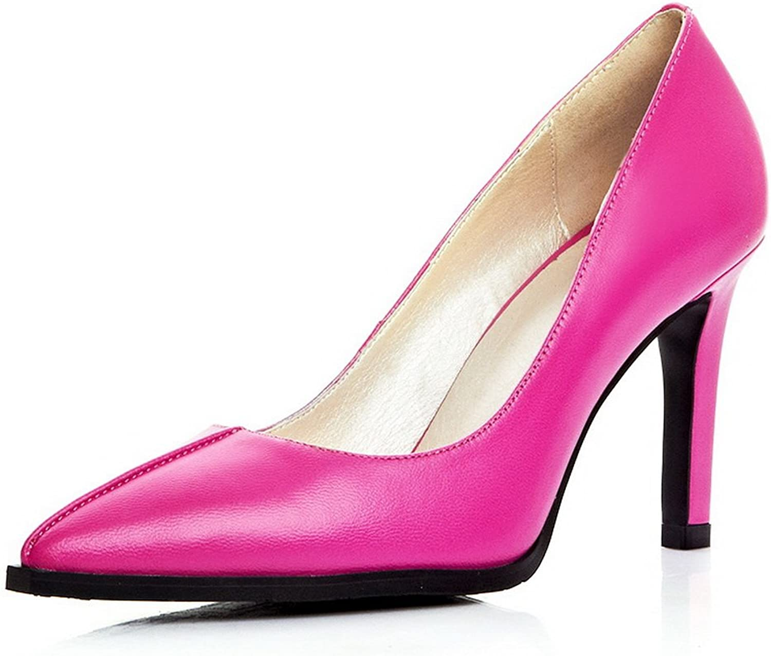 AdeeSu Womens Light-Weight Slip-Resistant Pointed-Toe Solid Pleather Pumps shoes SDC03957