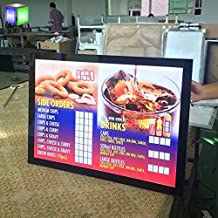 Magnetic Aluminum Led Light Box For Menu Board Restaurant Fast Food Display