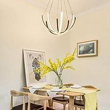 LED Semicirkel Kroonluchter Aluminium Acryl Plafondlamp Bruin Wit Geel Warm Licht Dining Living Study Slaapkamer Eenvoudig...