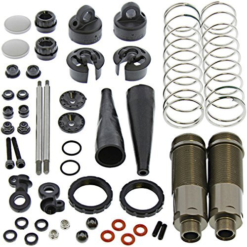 Tekno RC 1/10 MT410 Rear Shocks & Springs Shaft Cap Body Collar Piston Ends