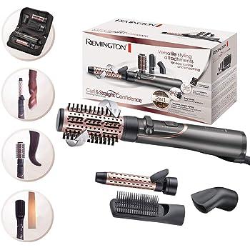 Remington Curl&Straight Confidence AS8606 - Kit Moldeador de Aire Giratorio, Alisador y Rizador 2 en 1, 800W, Cerámica, 4 Accesorios, Gris: Amazon.es: Salud y cuidado personal