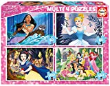 Educa Borrás Disney Princess Multi 4 Puzzles (17637) , Modelos/colores Surtidos, 1 Unidad