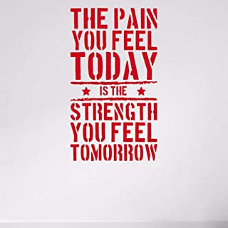 pbldb 30X50Cm The Pain You Feel Today Quotes Wall Sticker Strength Workout Vinyl Removable Wall Art Mural Decals Room Decorations