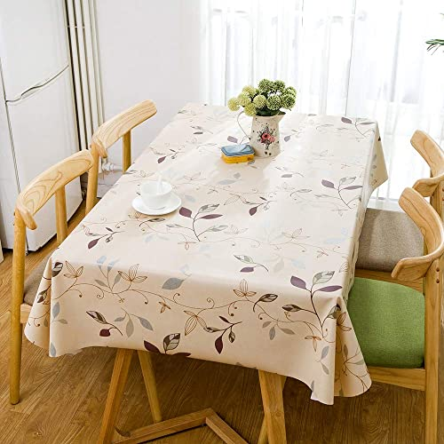 55747efd5 fancy-fix Natural Leaves Pattern Oil-proof Wipe Clean Table Cloth Plastic  Tablecloths 137