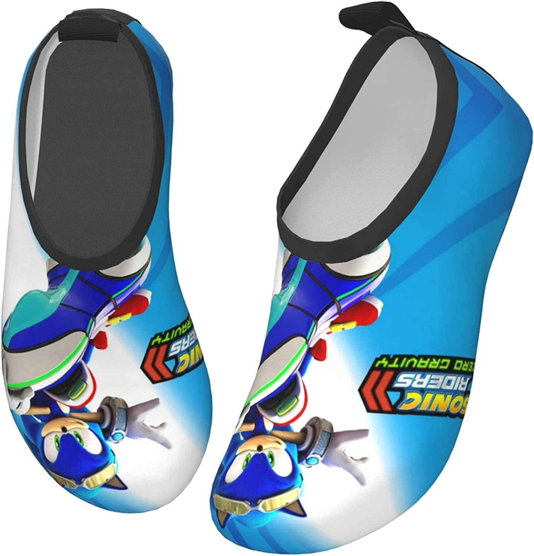 ZSCFBJM Sonic Toddler Kids Swim Water Shoes Lightweight Barefoot Non-Slip Aqua Socks Beach Swimming Surf Walking for Boys Girls