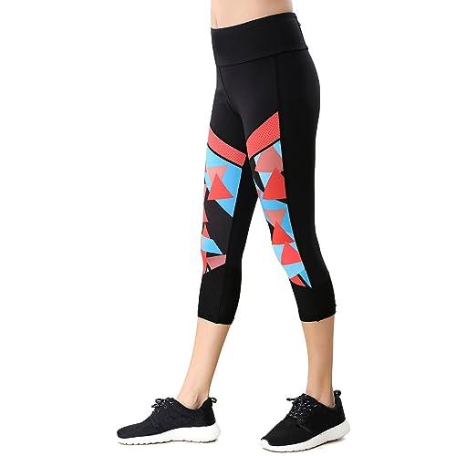 beroy Womens Active Workout Leggings Training Yoga Pants High Waist Tummy Control Capri Legging with Pocket