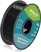 Dikale PLA 3D Printer Filament - 1KG(335m/1099ft) 1.75mm, Dimensional Accuracy +/- 0.02 mm, 1KG Spool 1.75 mm Black(PLA2.2lbs-Black(335m/1099ft))