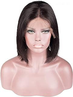 Lace Front Wig Brazilian Short Bob human hair wigs women,Natural Color,14inches,China,150%