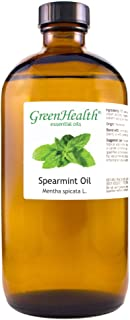 GreenHealth Spearmint – 100% Pure Essential Oil 16 fl oz (473 ml) Glass Bottle