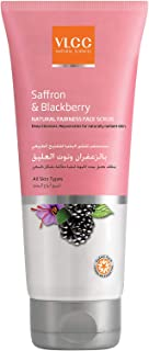 VLCC Saffron & Blackberry Natural Fairness Face Scrub 150 ml, Pack of 1