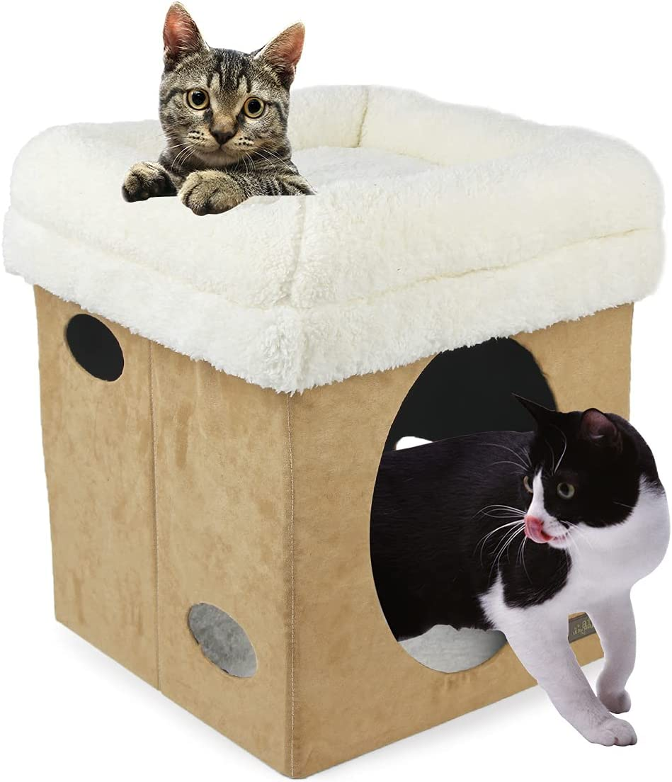 ALL FOR PAWS Clearance SALE! Limited time! Cat Bed Condo H Stackable Foldable Cube cat Large special price