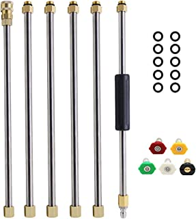 Twinkle Star Pressure Washer Extension Wand Set, 7.5 ft Replacement Lance with 5 Spray Nozzle Tips, 4000 PSI