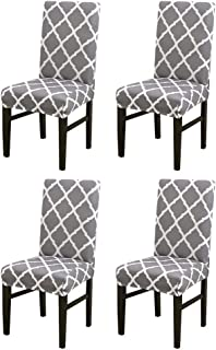 CHICHIC Stretch Removable Short Dining Chair Protector...