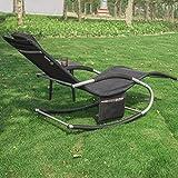 SoBuy 2-er Set Swingliege Schaukelliege Sonnenliege Liegestuhl Gartenliege mit Tasche - 2