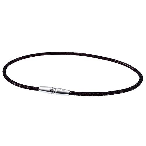 【Amazon.co.jp限定】 ファイテン(phiten) ネックレス RAKUWA ネックX50 AG ローレット シルバー 50cm アクアゴールド×アクアチタンX50 含浸スペシャルモデル