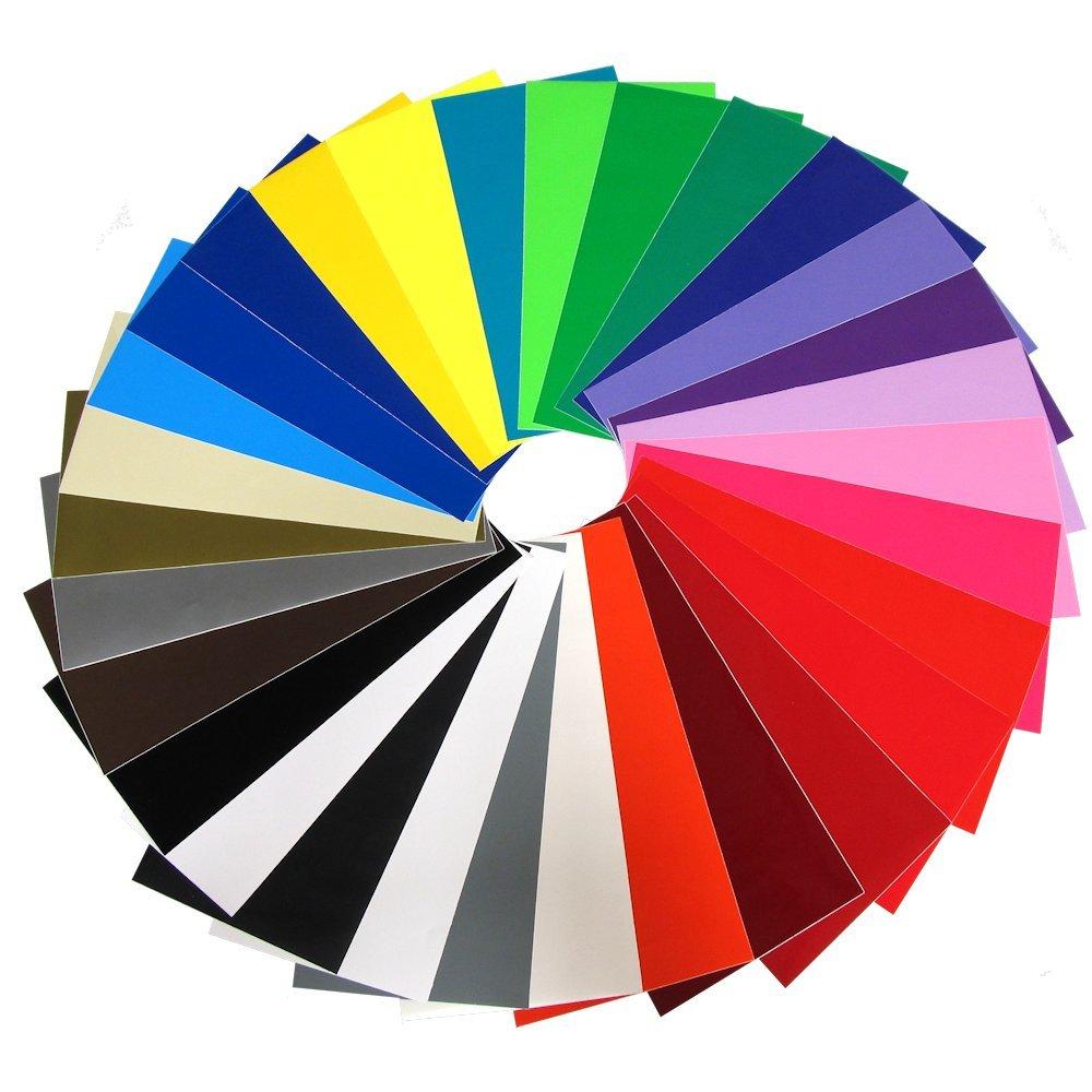 Vinyl Ease V0101 - 30 hojas de vinilo adhesivo permanente para Cricut, Silueta, Pazzles, Craft Robo, QuicKutz, cortadores de manualidades, troqueles, plotters de carteles: Amazon.es: Hogar