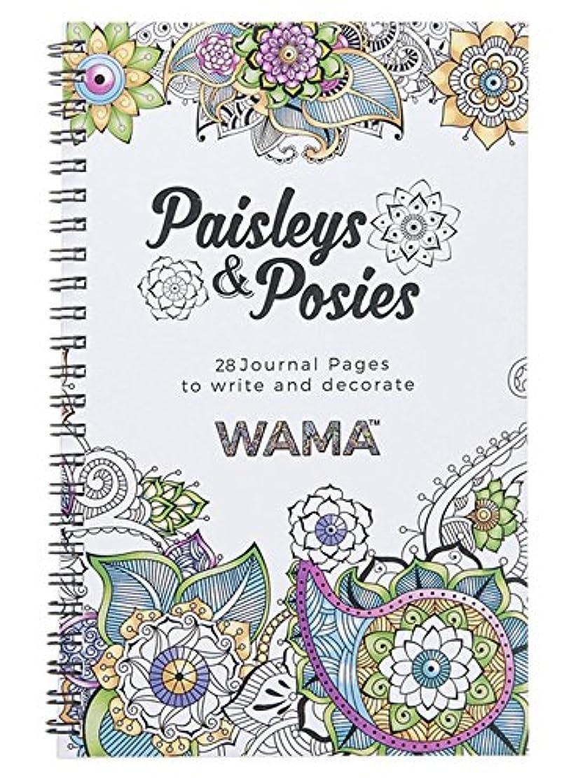 WAMA Paisleys & Posies Adult Coloring Book and Journal