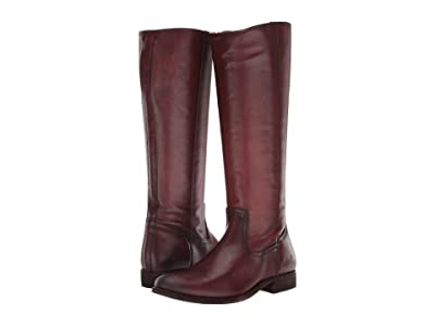 Frye Melissa Inside Zip Tall (Mahogany) Women