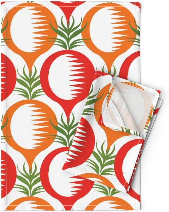 Roostery Veggies Tea Towels Root Food Mod Cooking One Popular overseas Vegetables Max 58% OFF