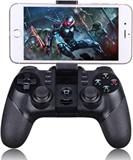 Game Controller 2.4G Bluetooth Wireless Gaming Controller Gamepad for PS3 PC (Windows XP/7/8/10) iOS iPhone iPad Android Smartphone Tablet Smart TV Box, 8m Remote Portable Game Joystick Handle