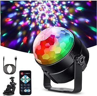 Litake Discobol, discolicht, led (upgrade 6 W), feestlicht, 7 kleuren, kleurverandering, muziekgestuurd, podiumverlichting...