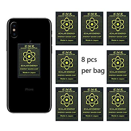 EMF Schutzschild, EMR Blocker Gerät Neutralizer Anti-Strahlung Handy-Aufkleber für alle EMF Geräte-WiFi, iPhone, iPad, Laptop (8pcs)