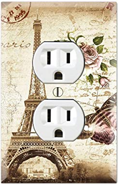 Graphics Wallplates - Je T'Aime Eiffel Tower Paris - Duplex Outlet Wall Plate Cover