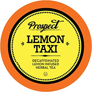 Prospect Tea Decaffeinated Lemon Taxi Herbal Tea Pods for Keurig K-Cup Makers, 40 Count