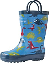 OAKI Toddler Rain Boots - Kids Rain Boots for Girls & Boys - Waterproof Rubber Boots w/Easy-On Handles