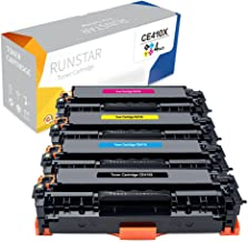 Run Star Compatible Toner Cartridge Replacement for HP 305X CE410X CE411A CE412A ( Black,Cyan,Magenta,Yellow , 4-Pack )