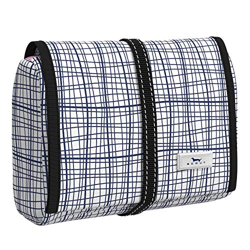 SCOUT Beauty Burrito Hanging Toiletry Travel Bag, Large Water-Resistant Cosmetic and Toiletries Organizer with Elastic Band Closure