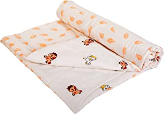 Mom's Home Organic Cotton Super Soft Summer AC Baby Quilt Blanket Cum Bedspread - 0-3 Years - 110 * 120 Cms - Any 1 Design- Jungle Theme