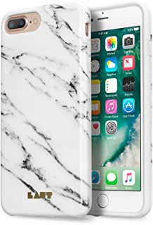 LAUT - HUEX ELEMENTS Case For iPhone 8 Plus / iPhone 7 Plus / iPhone 6s/6 Plus with Anti-scratch 360° Protection | Marble Pattern (Marble White)