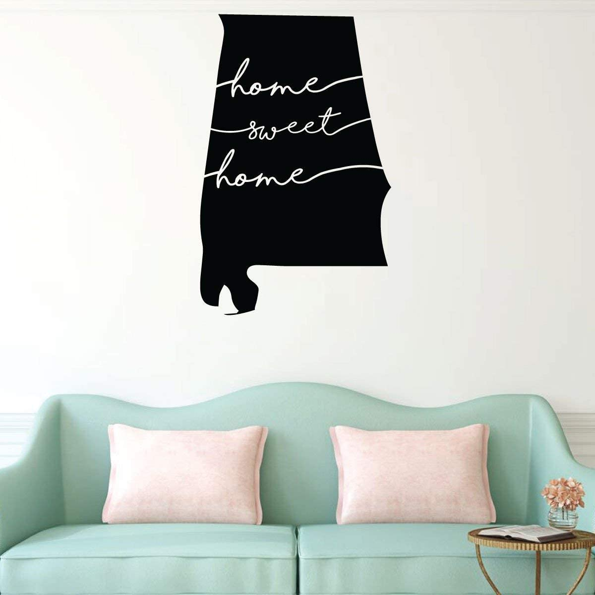 Tamengi Home Sweet Home Alabama Wall Decal - State Silhouette Vinyl Art for Home Decor, Living Room or Family Room Decoration 15.7