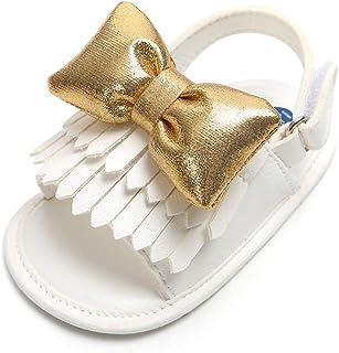 Infant Baby Girls Sandals Summer Shoes Bowknot Tassels Anti-Slip Moccasins Toddler