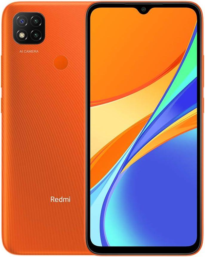 typ versi/ón en espa/ñol Xiaomi Redmi 9C Smartphone 3GB 64GB 6.53 HD+ Dot Drop Display 5000mAh Desbloqueo Facial con IA 13 MP AI Triple C/ámara Naranja