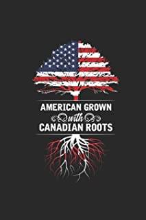 American Grown With Canadian Roots: Dotted Bullet Notebook – Gift Idea For Canada Day Celebration