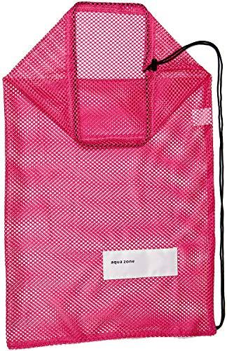 Bolsa de malla con cordón para buceo, natación, viajes, playa, equipo deportivo (rosa, 28 x 17)