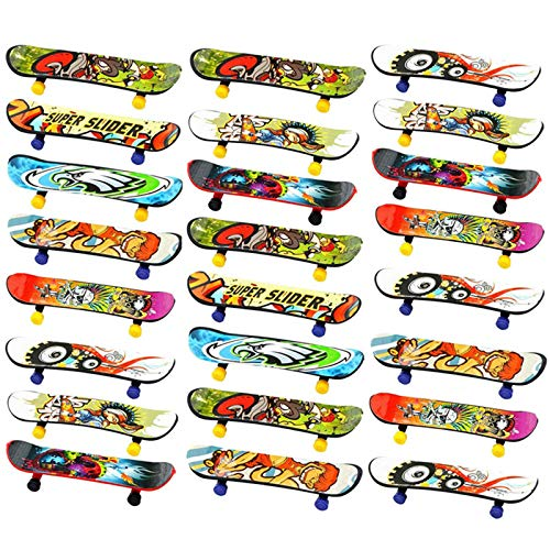 Finduat Mini Fingerboards Finger Skateboard Toy, Creative Fingertips Movement Party Favors Novelty Toys for Kids Party Supplies Props Decoration(20 Pack, Random Color)