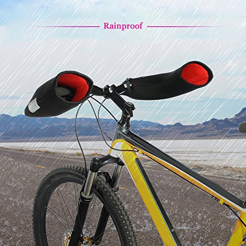Docooler 1 Paar Lenkerhandschuhe/Radsport Handschuhe/Fahrrad Lenker Handschuhe Handwärmer Handabdeckungen Für MTB/Motor/Fahrrad, Dicke: 6mm/Wasserabweisendes Material - 3